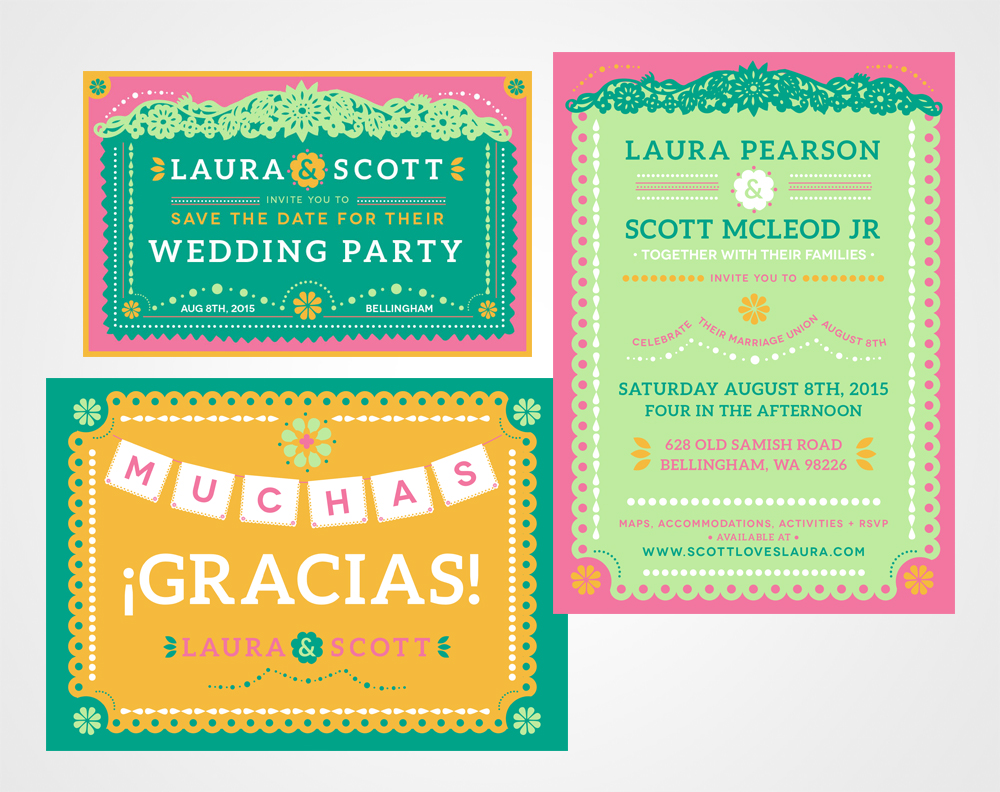 Laura & Scott's Wedding Branding