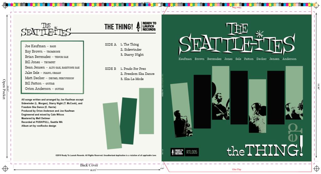 Record Album Design - The Seattle-ites